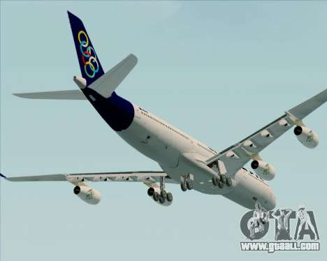 Airbus A340-313 Olympic Airlines for GTA San Andreas upper view