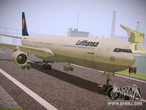 Airbus A340-600 Lufthansa for GTA San Andreas back left view