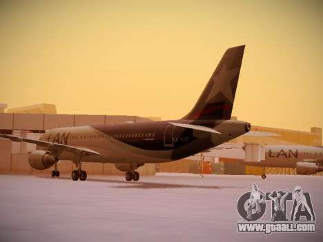 Airbus A320-214 LAN Airlines for GTA San Andreas back left view