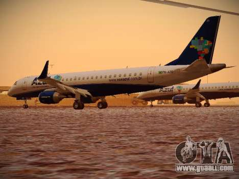Embraer E190 Azul Brazilian Airlines for GTA San Andreas right view