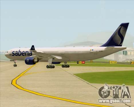 Airbus A330-300 Sabena for GTA San Andreas back view
