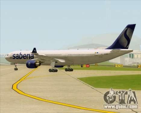 Airbus A330-300 Sabena for GTA San Andreas back view