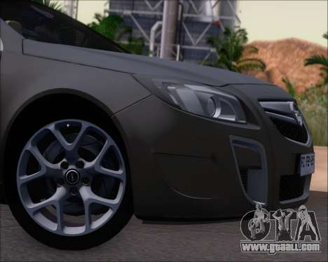 Opel Insignia OPC for GTA San Andreas inner view