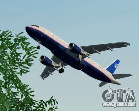 Airbus A320-232 United Airlines (Old Livery) for GTA San Andreas interior