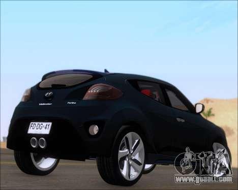 Hyundai Veloster 2013 for GTA San Andreas right view