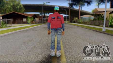 Marty from Back to the Future 2015 for GTA San Andreas second screenshot