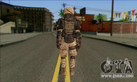Task Force 141 (CoD: MW 2) Skin 15 for GTA San Andreas second screenshot