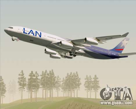 Airbus A340-313 LAN Airlines for GTA San Andreas engine