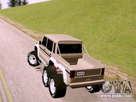 Benefactor Dubsta 6x6 for GTA San Andreas left view
