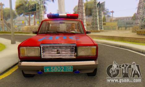 VAZ 2107 Police for GTA San Andreas right view