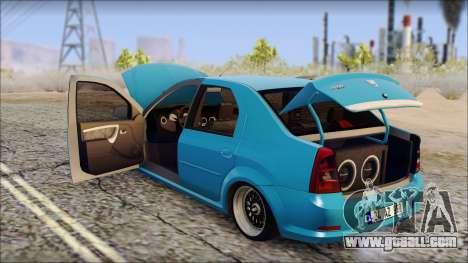 Dacia Logan BS GARAGE for GTA San Andreas right view
