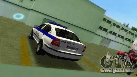 Skoda Octavia Albanian Police Car for GTA Vice City back view