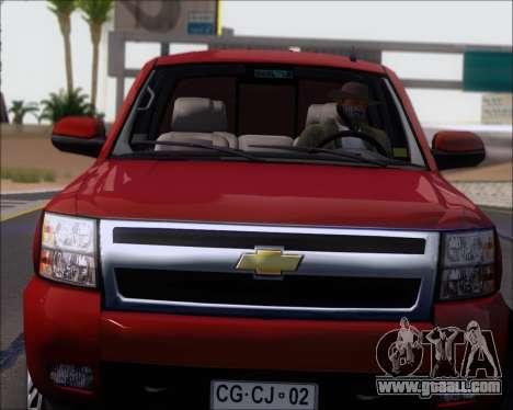 Chevrolet Silverado 2011 for GTA San Andreas back view