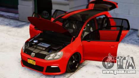 Volkswagen Golf R 2010 Racing Stripes Paintjob for GTA 4 right view