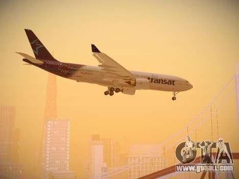 Airbus A330-200 Air Transat for GTA San Andreas inner view
