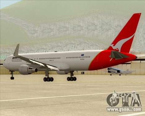 Boeing 767-300ER Qantas for GTA San Andreas side view