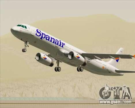 Airbus A321-231 Spanair for GTA San Andreas wheels