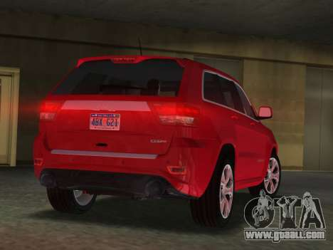 Jeep Grand Cherokee SRT-8 (WK2) 2012 for GTA Vice City left view