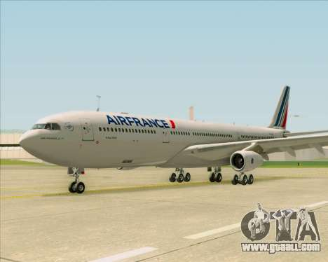 Airbus A340-313 Air France (New Livery) for GTA San Andreas inner view