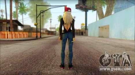 Eva Girl v2 for GTA San Andreas second screenshot