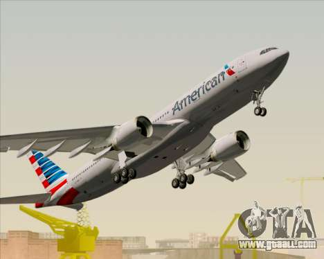 Airbus A330-200 American Airlines for GTA San Andreas upper view