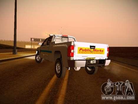 Chevrolet Silverado 2500HD Public Works Truck for GTA San Andreas inner view