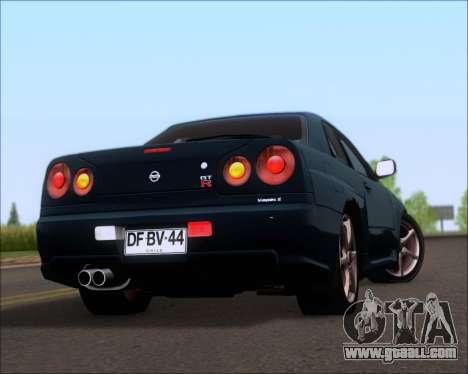 Nissan Skyline GT-R R34 V-Spec II for GTA San Andreas
