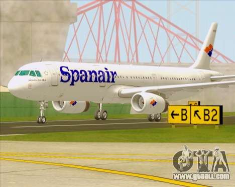 Airbus A321-231 Spanair for GTA San Andreas right view