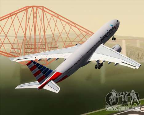 Airbus A330-200 American Airlines for GTA San Andreas wheels
