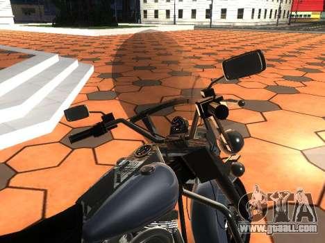Harley Davidson Road King for GTA San Andreas back view