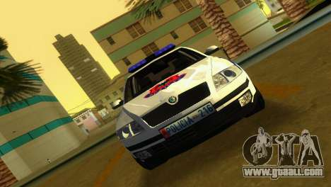 Skoda Octavia Albanian Police Car for GTA Vice City back left view