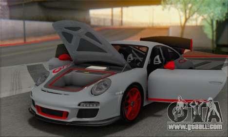 Porsche 911 GT3 2010 for GTA San Andreas bottom view