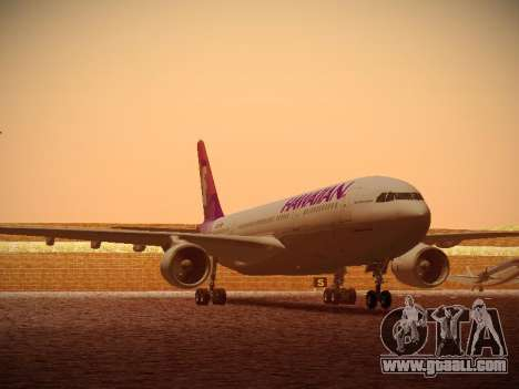 Airbus A330-200 Hawaiian Airlines for GTA San Andreas left view