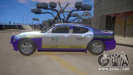 Dodge Charger Kuwait Police 2006 for GTA 4 back view