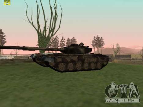 T-72 for GTA San Andreas back view
