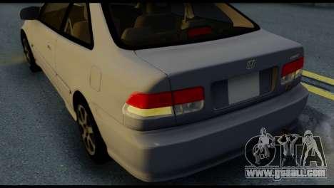 Honda Civic Si 1999 for GTA San Andreas side view