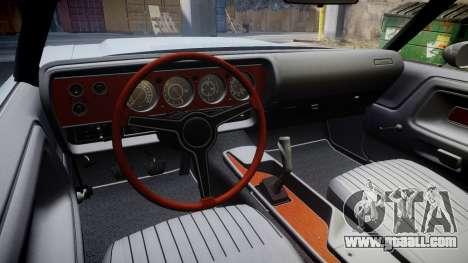 Dodge Challenger 1971 v2.2 PJ5 for GTA 4 back view