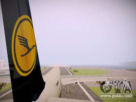 Airbus A340-600 Lufthansa for GTA San Andreas engine
