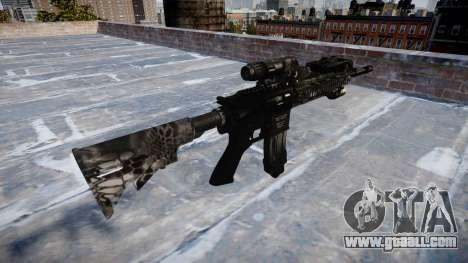 Automatic rifle Colt M4A1 kryptek typhon for GTA 4 second screenshot