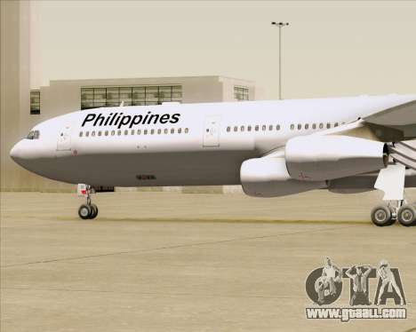 Airbus A340-313 Philippine Airlines for GTA San Andreas upper view