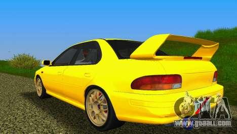 Subaru Impreza WRX STI GC8 Sedan Type 1 for GTA Vice City right view