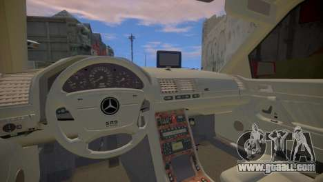 Mercedes-Benz S600 W140 for GTA 4 inner view