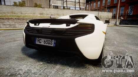 McLaren 650S Spider 2014 [EPM] Bridgestone v3 for GTA 4 back left view
