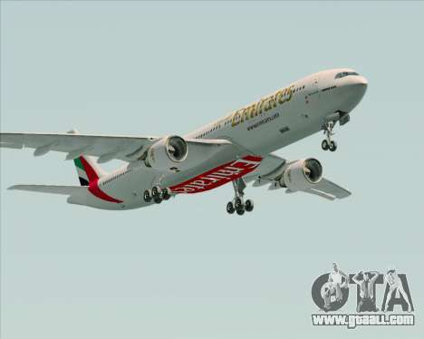 Airbus A330-300 Emirates for GTA San Andreas inner view