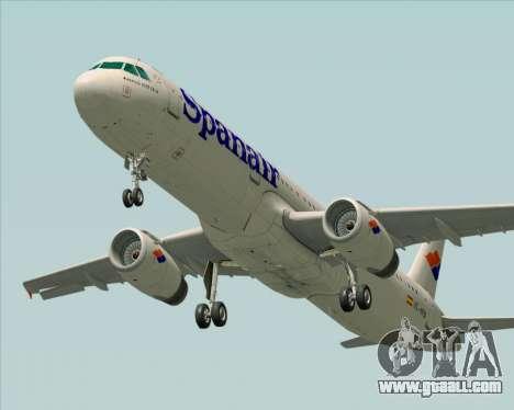 Airbus A321-231 Spanair for GTA San Andreas bottom view