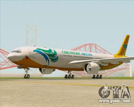 Airbus A330-300 Cebu Pacific Air for GTA San Andreas left view