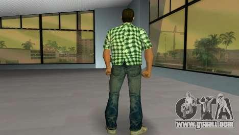Kockas polo - zold T-Shirt for GTA Vice City third screenshot