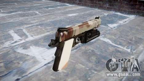 Gun Kimber 1911 Choco for GTA 4 second screenshot
