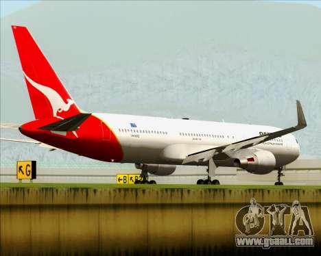 Boeing 767-300ER Qantas for GTA San Andreas back left view