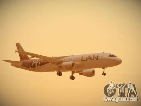 Airbus A320-214 LAN Airlines 80 Years for GTA San Andreas engine